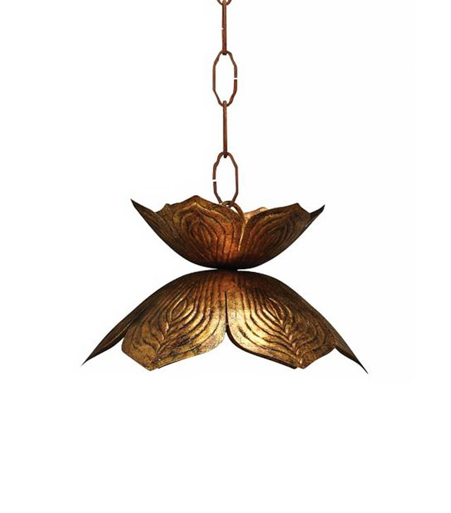 Euro Style Lighting Gold Lotus Hanging Pendant Lamp