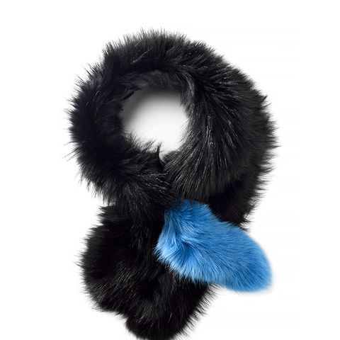 Blue Fur Popsicle Stole