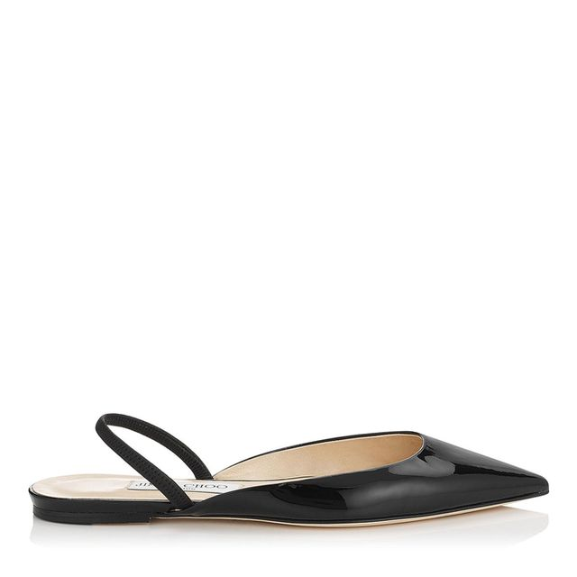 Jimmy Choo Genoa Patent Leather Slingback Flats