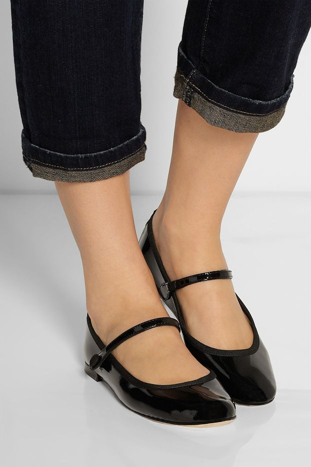 Repetto Lio Patent-Leather Mary Jane Ballet Flats