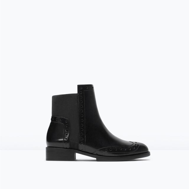 Zara Perforated Booties