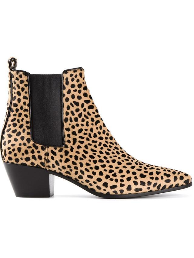 Saint Laurent Leopard Boots