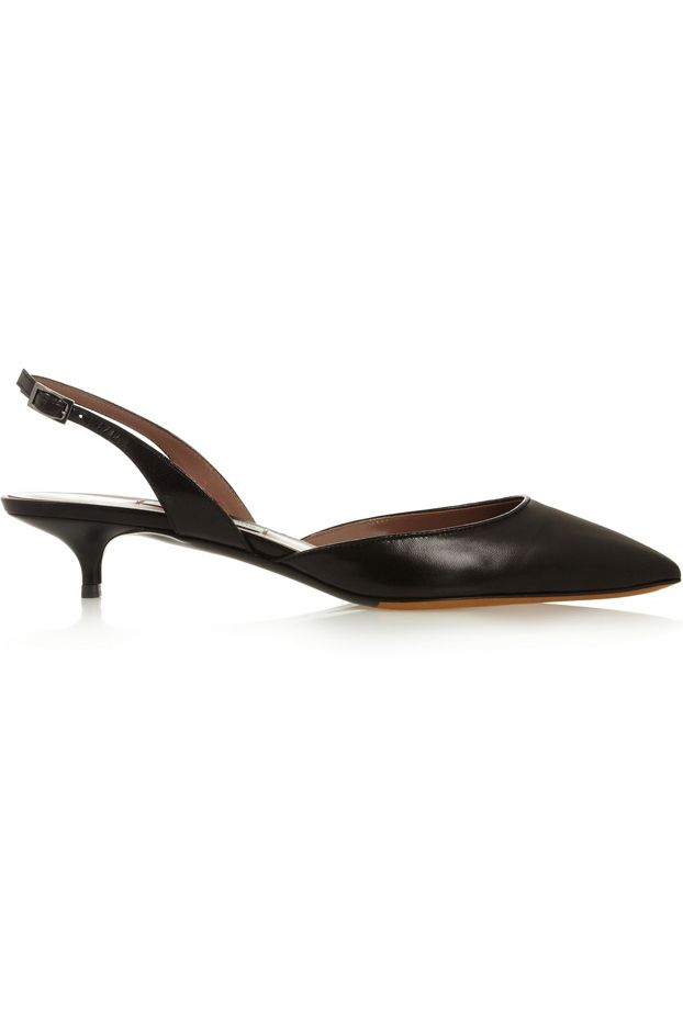 Tabitha Simmons Lily Leather Slingback Pumps