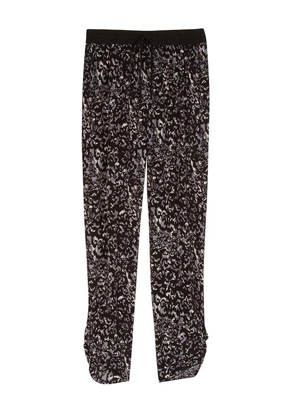 Michael Stars Shirred Leg Silk Jogging Pants