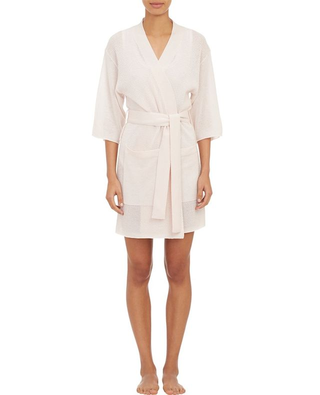 ATM Anthony Thomas Melillo Open-Work Stitch Kimono Robe