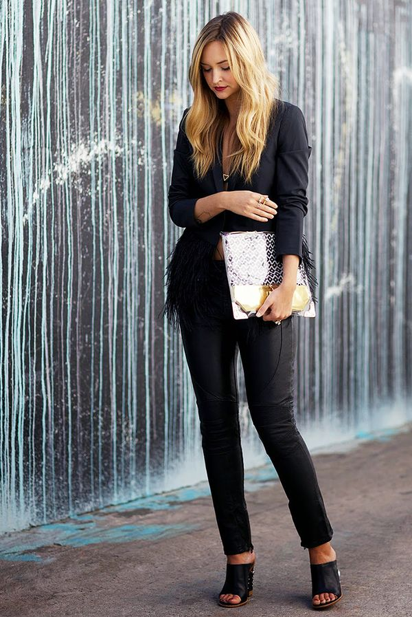 Black Blazer + Cropped Black Trousers