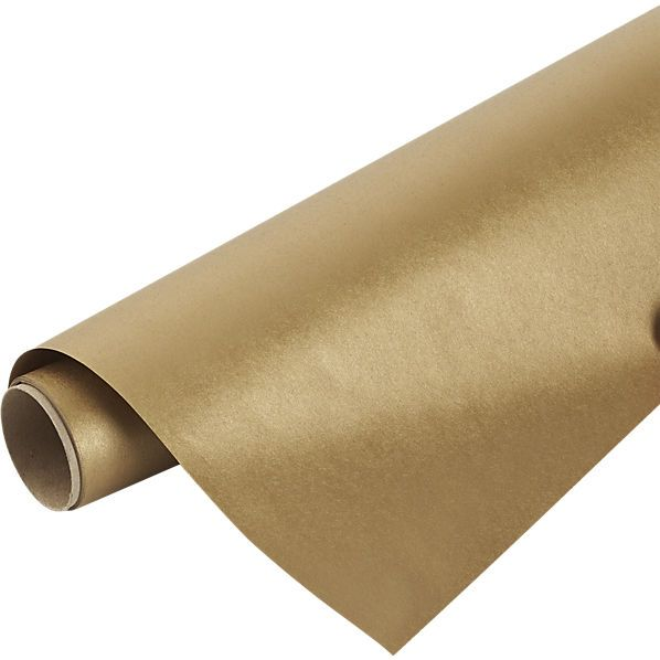 CB2 Kraft-Gold Gift Wrap