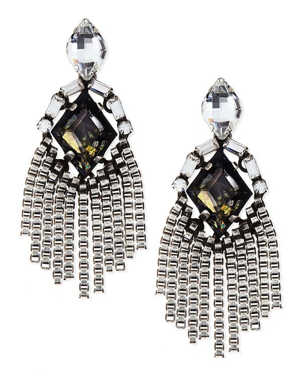 Dannijo Allegra Crystal Drop Earrings