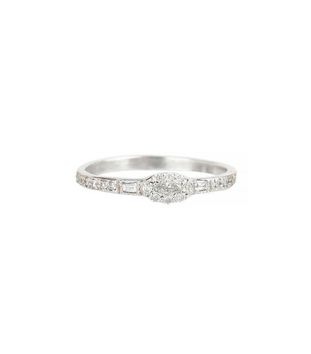 Elisa Solomon Anna Karenina Marquise Diamond Ring