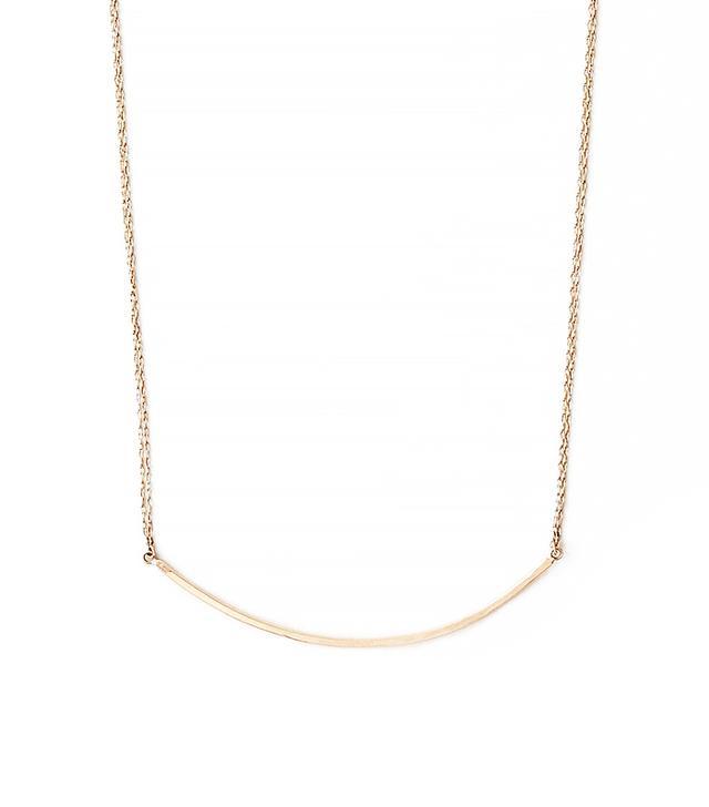 Blanca Monros Gomez Bar Curve Necklace