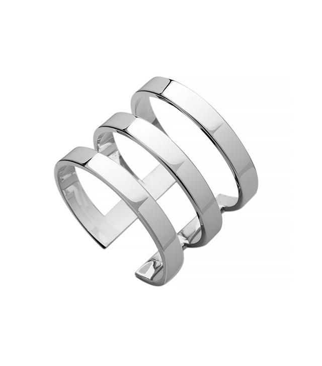 Jennifer Zeuner Yvette Sterling Silver Three-Band Ring