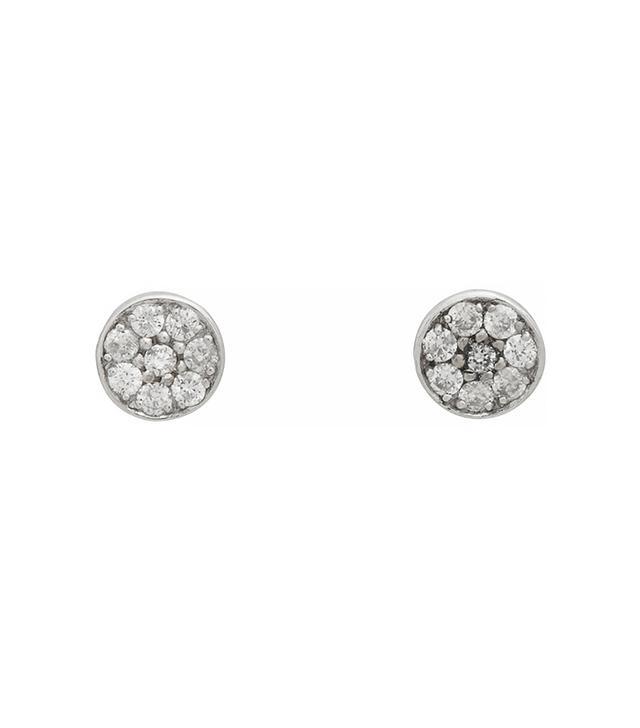 Jennifer Meyer Pavé Diamond Circle Stud Earrings