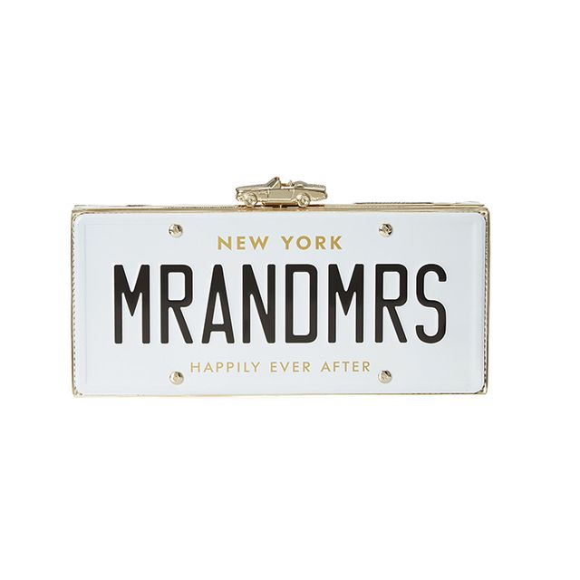 Kate Spade Wedding Belles Licence Plate Clutch