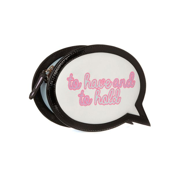 Sophia Webster To Have And To Hold Speech Bubble Leather Clutch