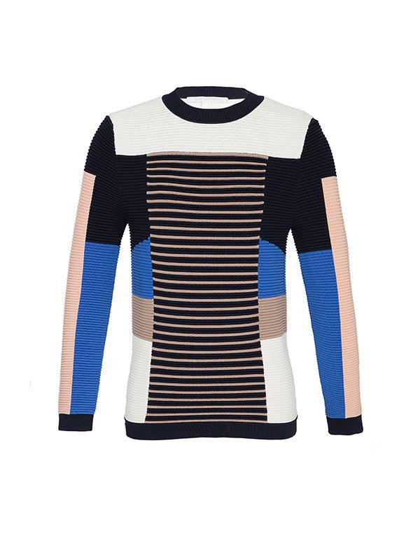 Jonathan Simkhai,Jonathan Simkhai Knit Angle Multicolor Sweater