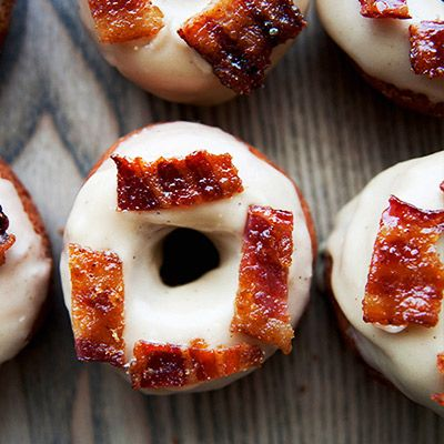 Maple Bacon Donuts With Candied Bacon