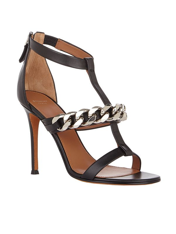 Givenchy Mirtilla Chain-Link T-Strap Sandals
