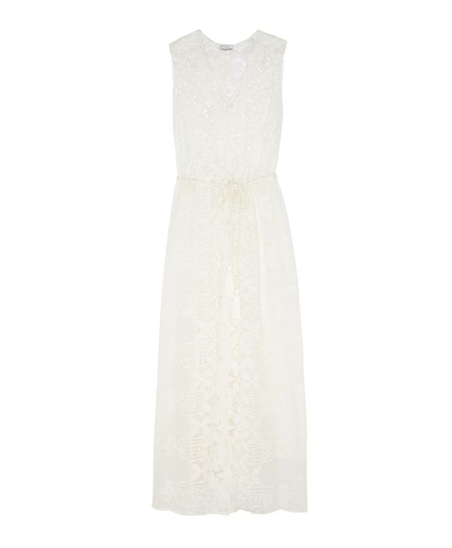 Miguelina Lupita Crochet-Paneled Cotton-Lace Dress