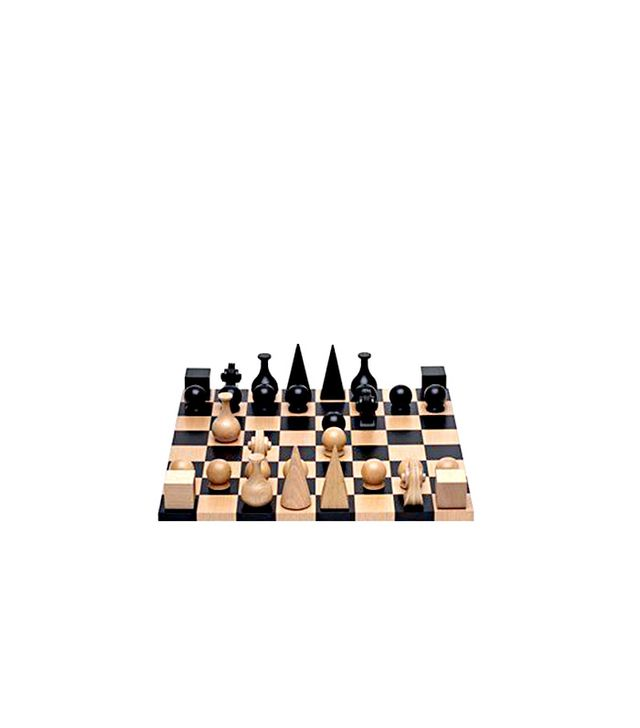 Man Ray Wood Chess Set