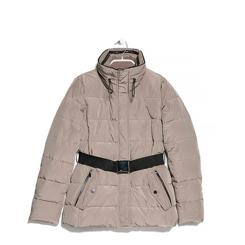 Belted Feather Down Coat