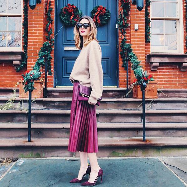 Winter Skirt Outfit Ideas