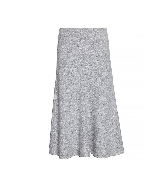 Nicholas Felted Wool Flared Skirt