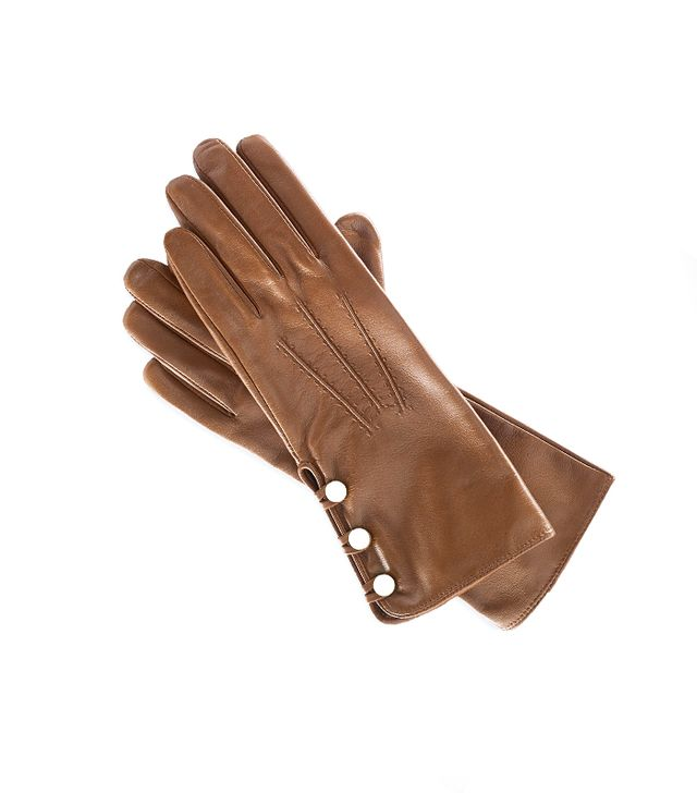 Ralph Lauren Buttoned Leather Gloves