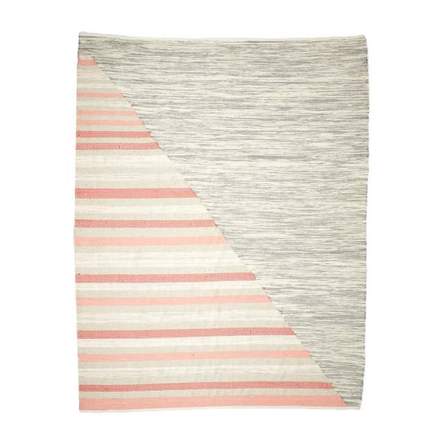 West Elm Axis Stripe Wool Kilim Rug (8'x10')