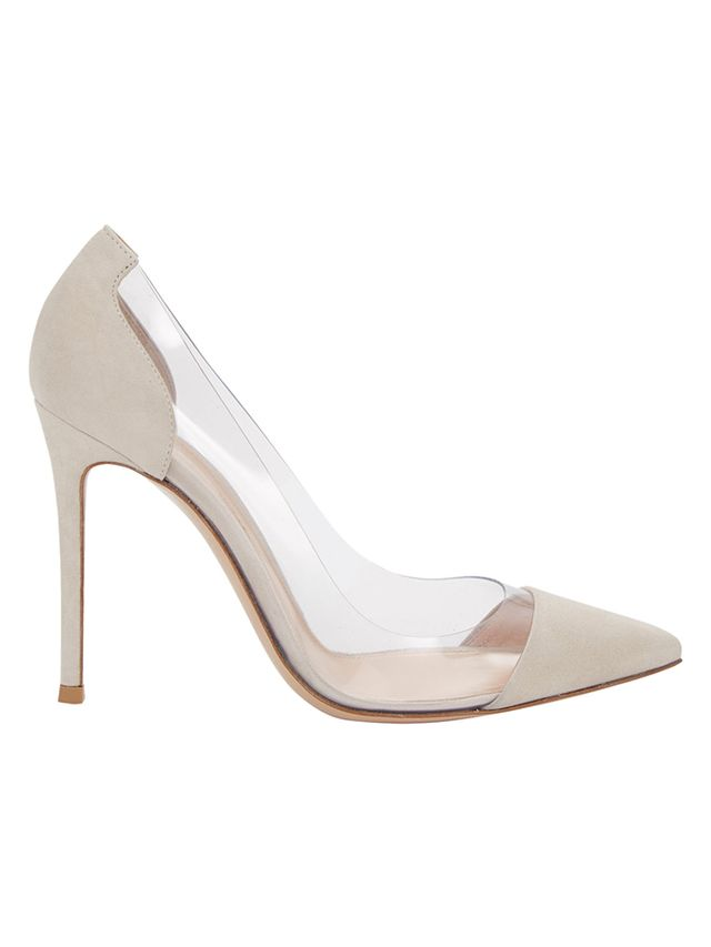 Gianvito Rossi PVC & Suede Pumps