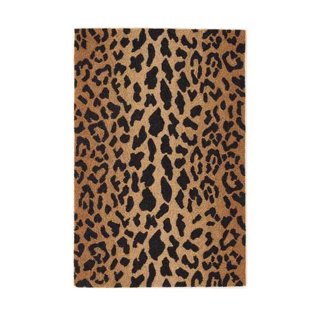 Dash & Albert Leopard Wool Micro Hooked Rug (5'x8')