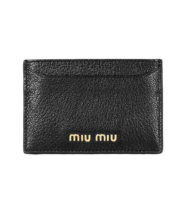 Miu Miu Madras Textured-Leather Cardholder