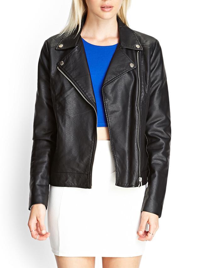 Forever 21 Boxy Woven Moto Jacket