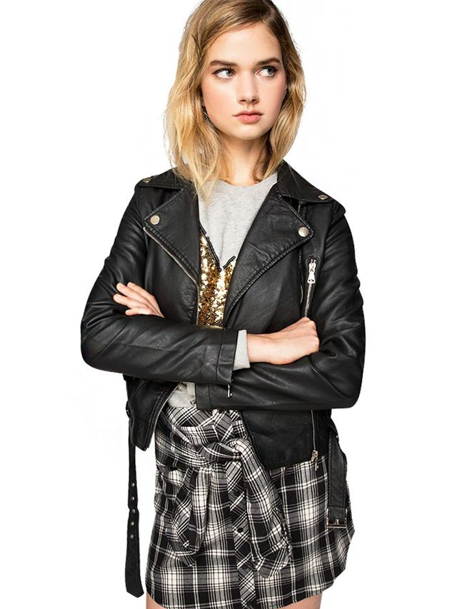 Pixie Market Sonya Leather Biker Jacket