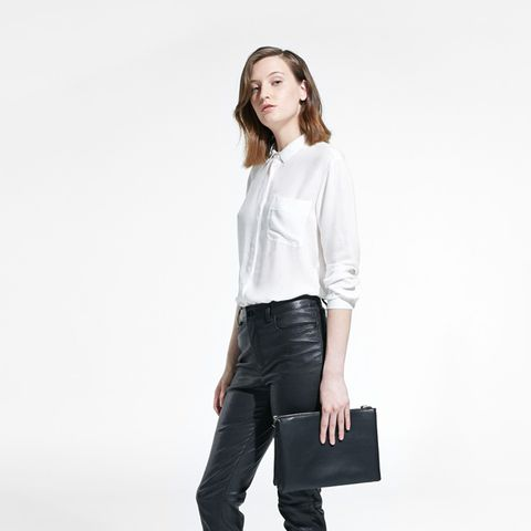 High-Waist Leather Trousers
