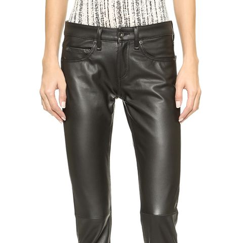 The Leather Dre Slim BF Pants