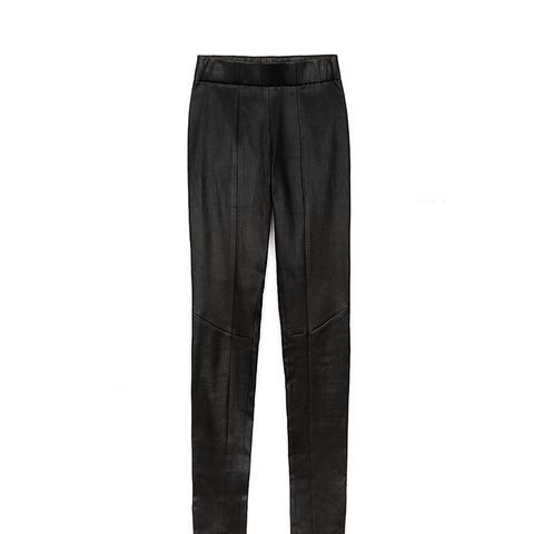 Leather One Seam Pants