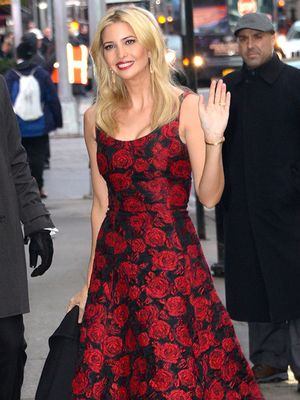 Ivanka Trump is the Picture of Ladylike Perfection in Rose-Print Dress