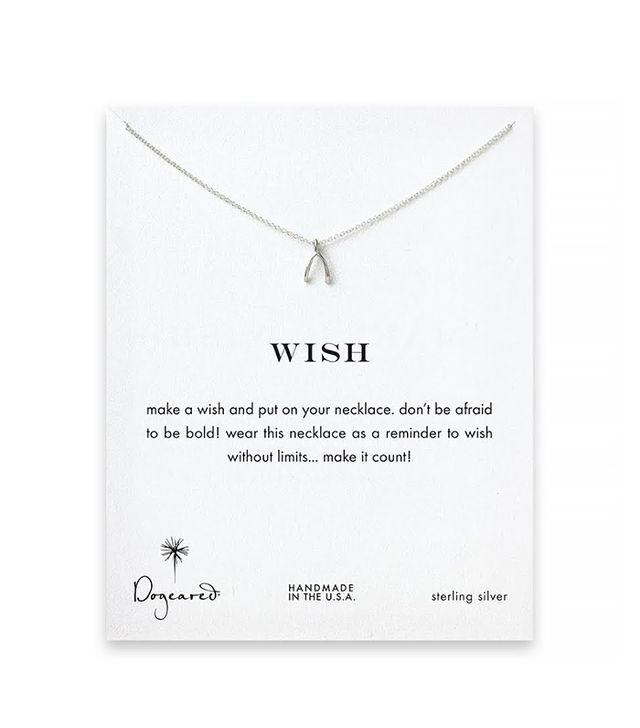 Dogeared Wish Wishbone Necklace