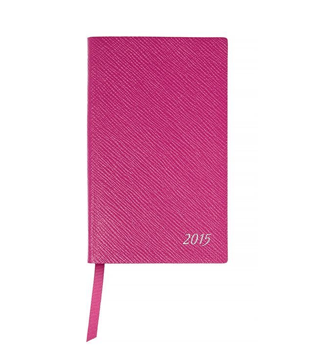 Smythson Panama 2015 Textured-Leather Diary