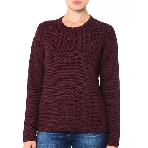 Drop Shoulder Crew Sweater
