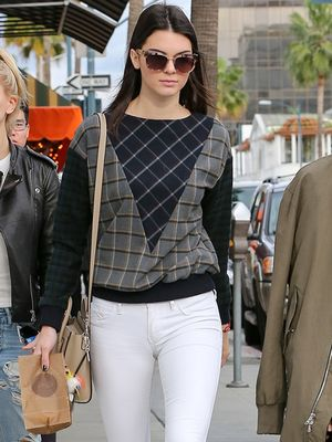 Stylish Sweater Sunday: Kendall Jenner's Cool Patchwork Piece