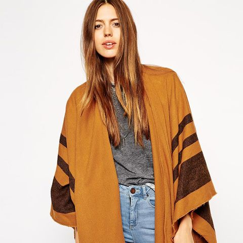 Stripe Blanket Cape