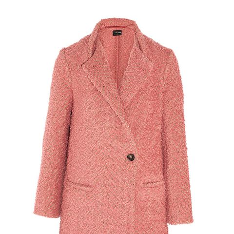 Gloria Herringbone Boucle Coat
