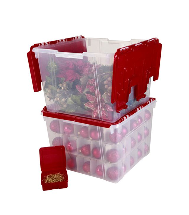 Wayfair Holiday Wing Lid Organizer Set with Ornament Dividers