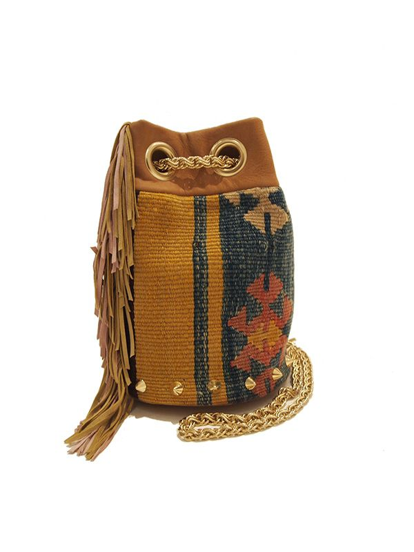 Delphine Delafon Kilim Franges Medium Bucket Bag
