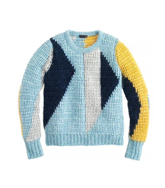 J.Crew Collection Abstract Mohair Sweater