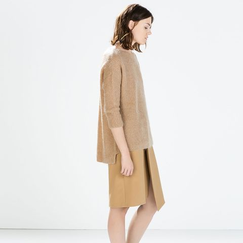 Mohair Sweater in Camel