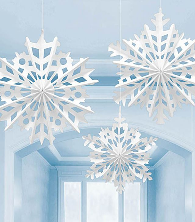 Shindigz Snowflake Paper Hanging Decorations