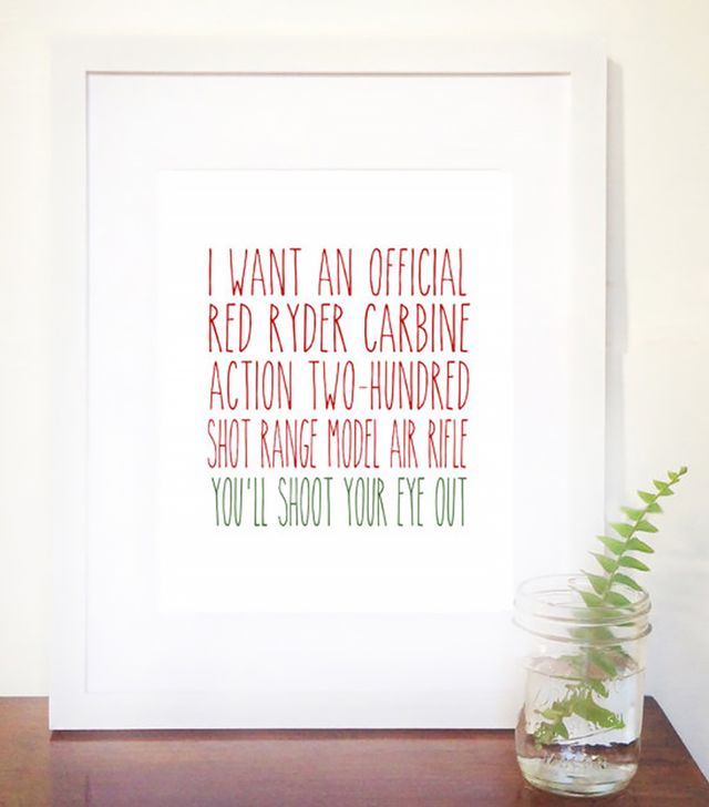 Etsy You'll Shoot Your Eye Out Print
