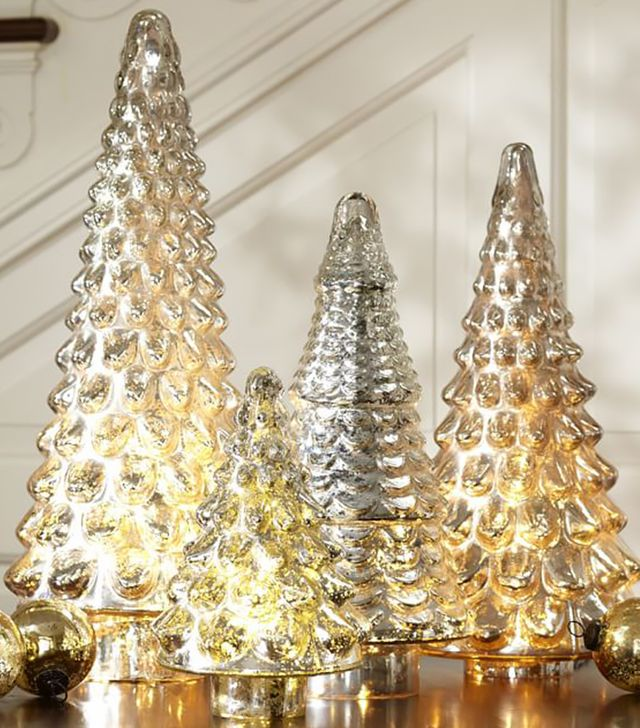 Pottery Barn Large Mercury Glass Christmas Tree